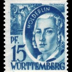 Fr._Zone_Württemberg_1948_19_Friedrich_Hölderlin