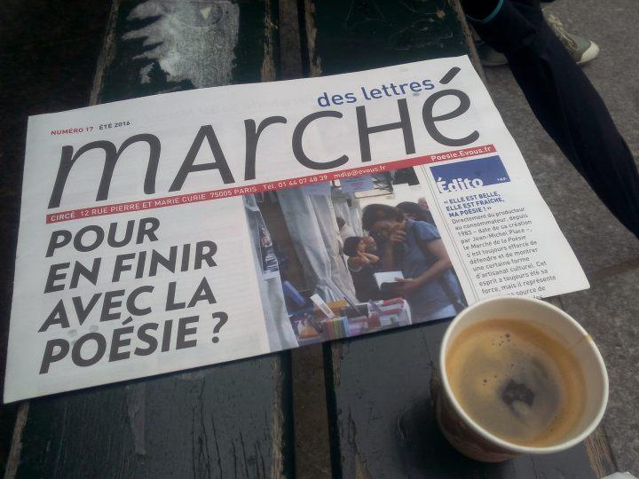 journal de café marché poésie
